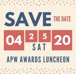 Save the Date: APW Awards Luncheon